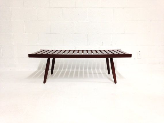 mid century modern bench coffee table made in japan | mid-century
