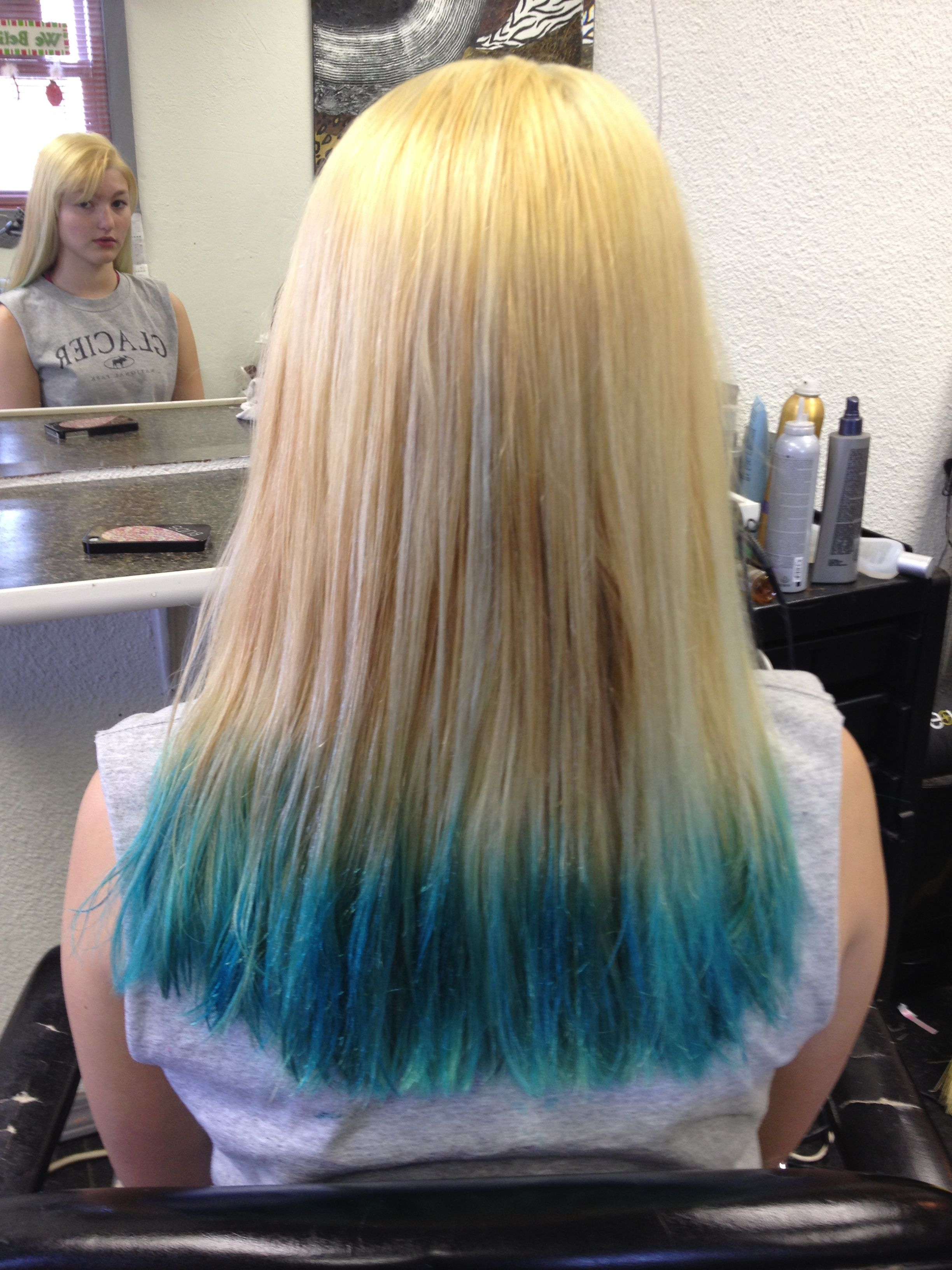 Why You Must Experience Blonde Hair With Blue Tips At Least Once Blue Tips Hair Blonde Hair With Blue Tips Hair