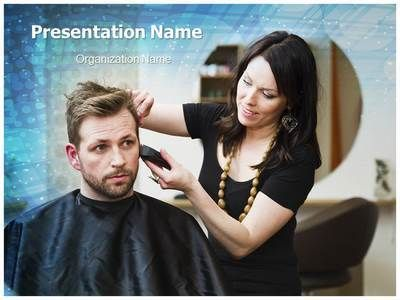 Hair Stylist Powerpoint Template Is One Of The Best