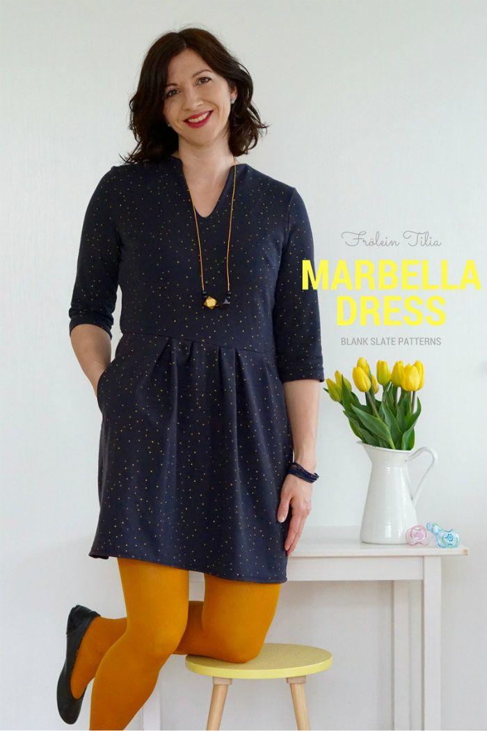 Marbella Dress by Blank Slate Patterns sewn by Froelein Tilia