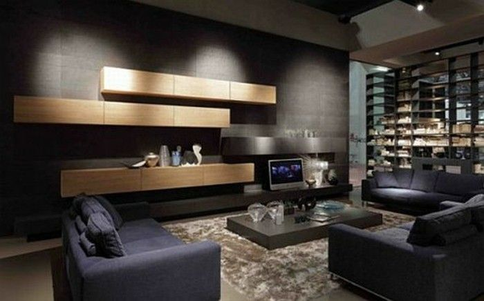 le salon gris et noir comment le dcorer archzinefr - Deco Salon Gris Et Noir