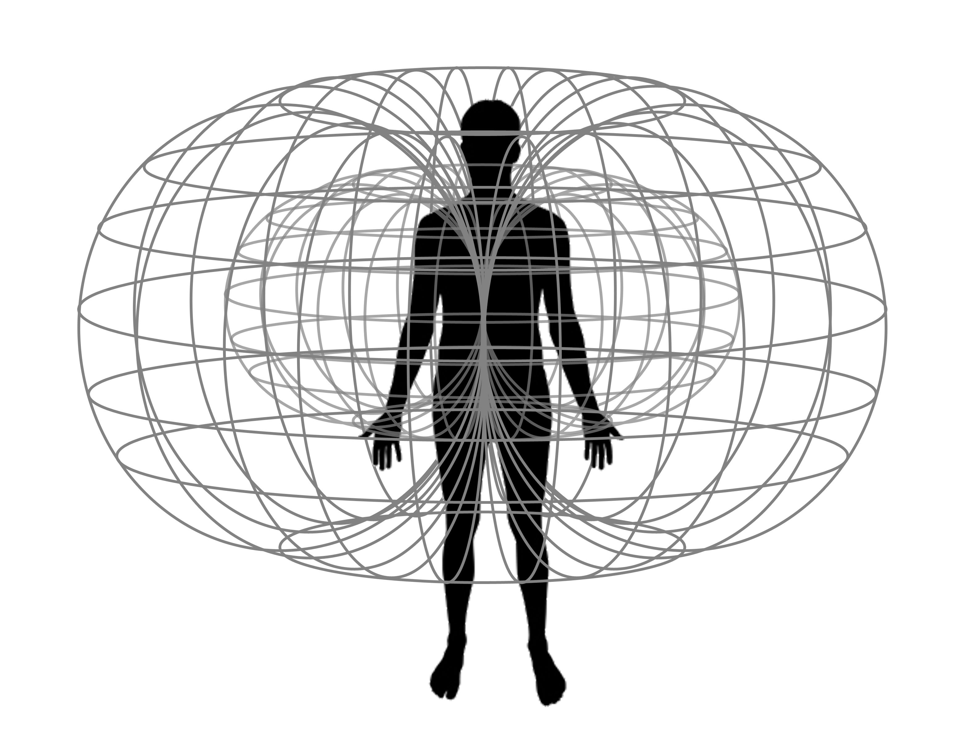 The Human Body has a magnetic field that projects at least