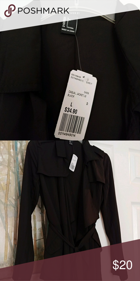 Size L Forever XXI black jacket NWT Size L Forever XXI black jacket NWT. Measurements available upon request. Forever 21 Jackets & Coats