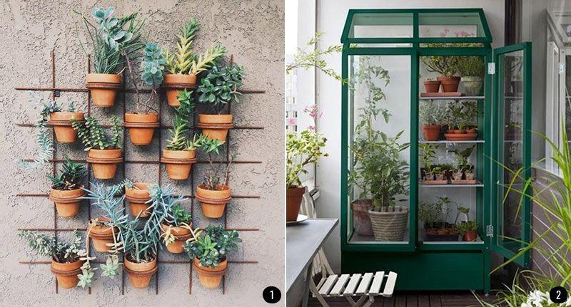 Exteriores con plantas patios terrazas jardines for Decoracion paredes exteriores patios
