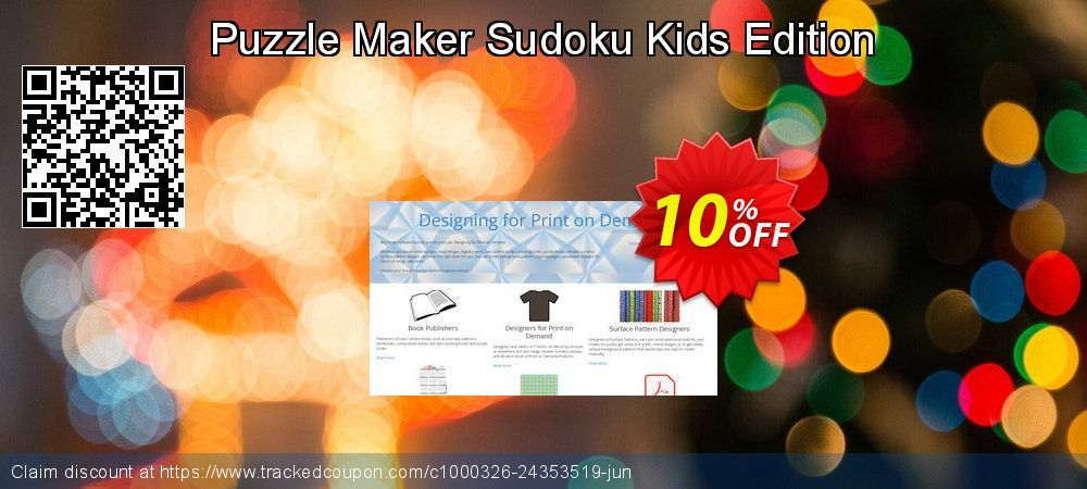 Puzzle Maker Sudoku Kids Edition Coupon 10% discount code, Jul 2019