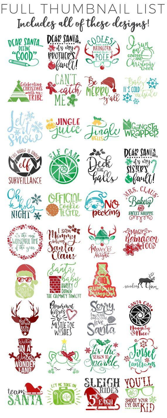 HUGE Christmas svg Bundle, Christmas svg Files for Cricut