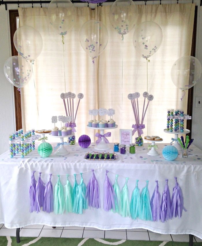 Confetti Themed 12th Birthday Party Purple Birthday Party Confetti Birthday Party Birthday Surprise Party