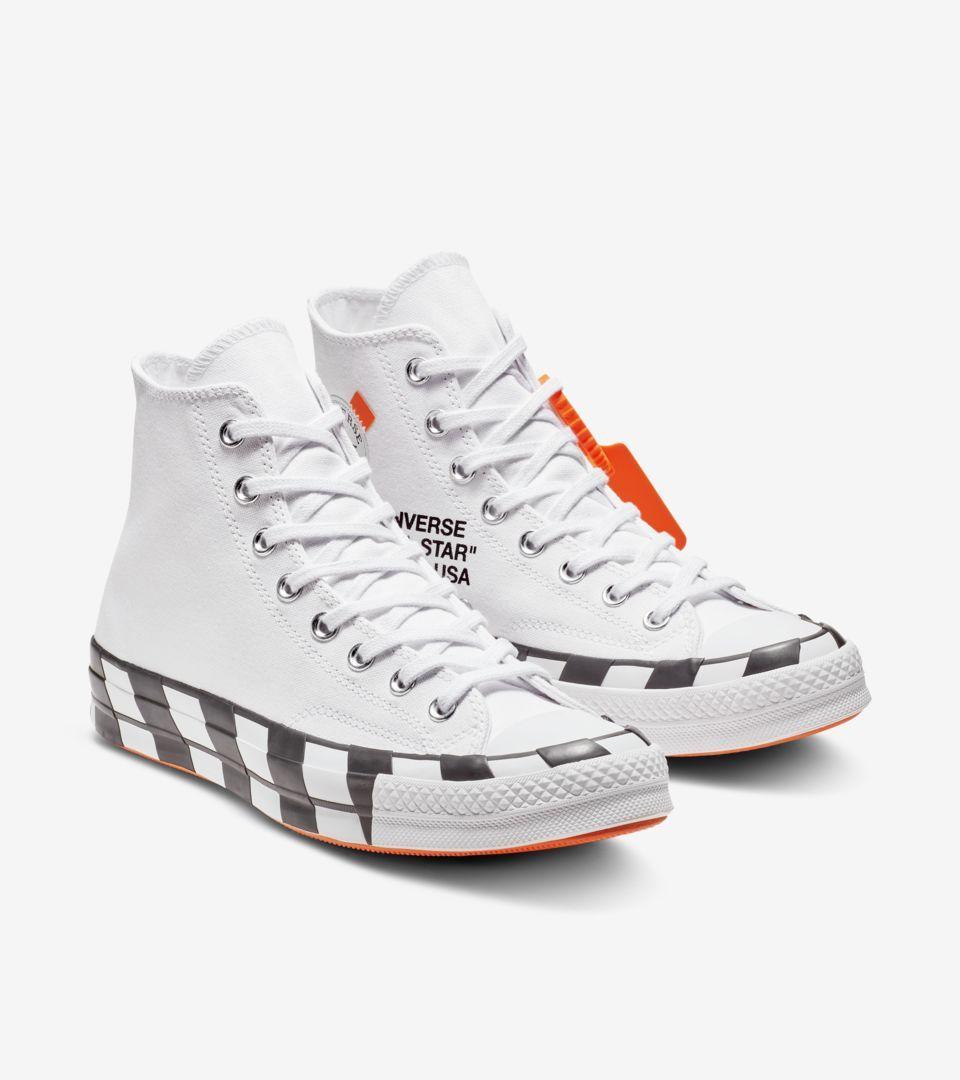 Converse X Off White Chuck 70 Icon Release Date Off White Converse Off White Shoes White Chucks