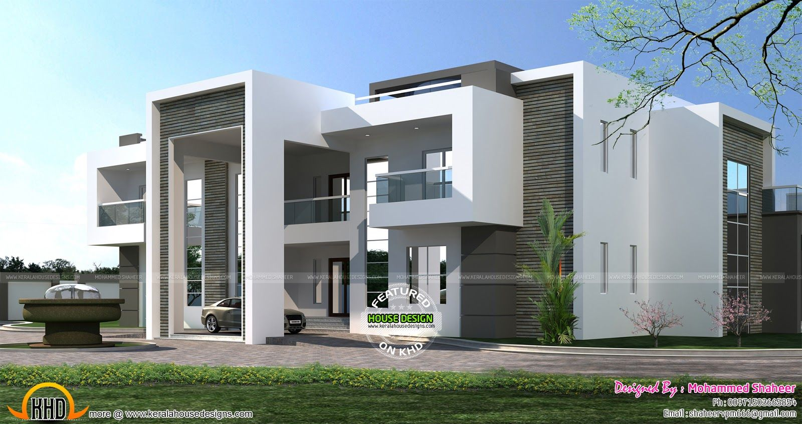 Gigantic Super Luxury Arabian Style Flat Roof House Plan Provided By Mohammed Shaheer Malappuram K Modern Bungalow House Flat Roof House Kerala House Design
