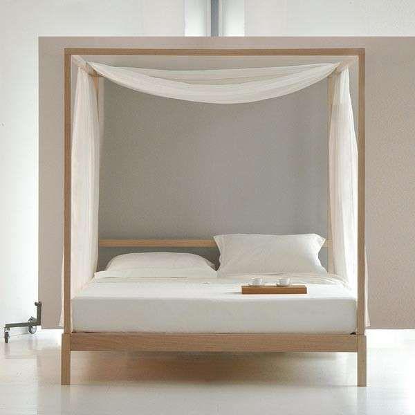 Letti a baldacchino di design - Letto in legno con veli | bed ...