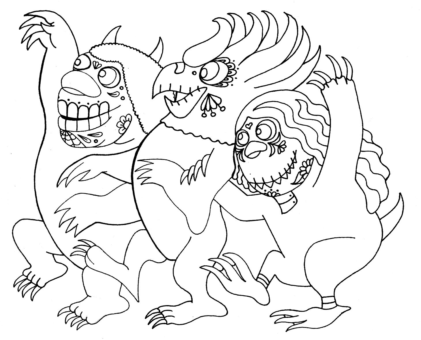 Yucca Flats, N.M.: Wenchkin\'s Coloring Pages - Dia de los Wild ...