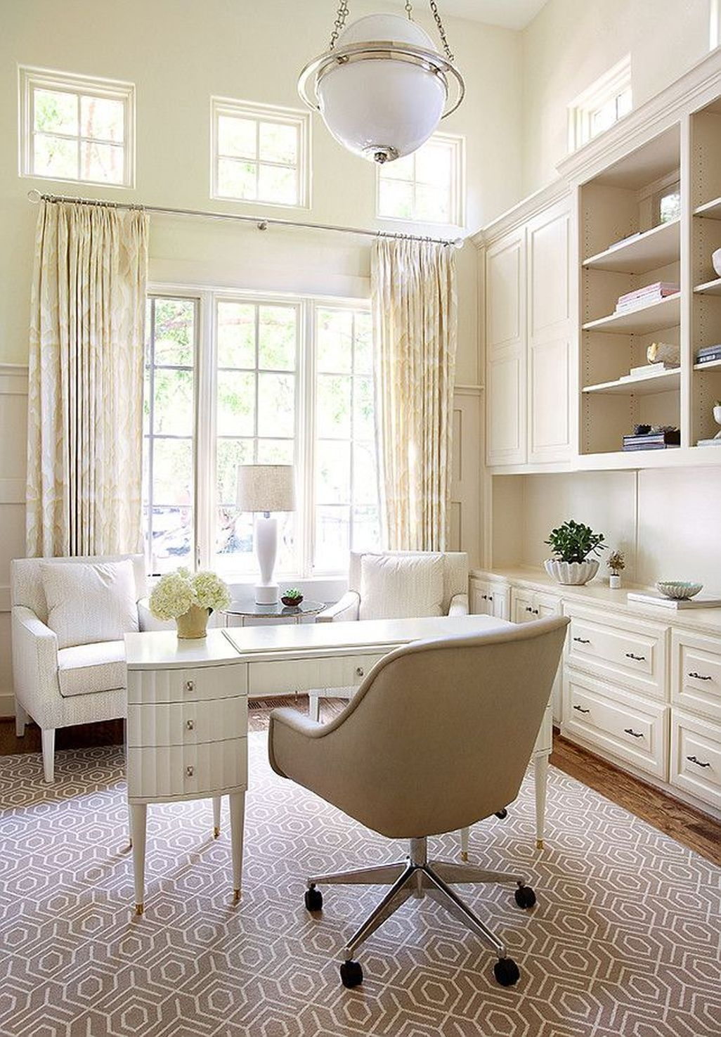 40 Inspiring Home Office Cabinet Design Ideas