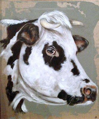 Vache Normande Art De Vache Peintre Animalier Et Vache
