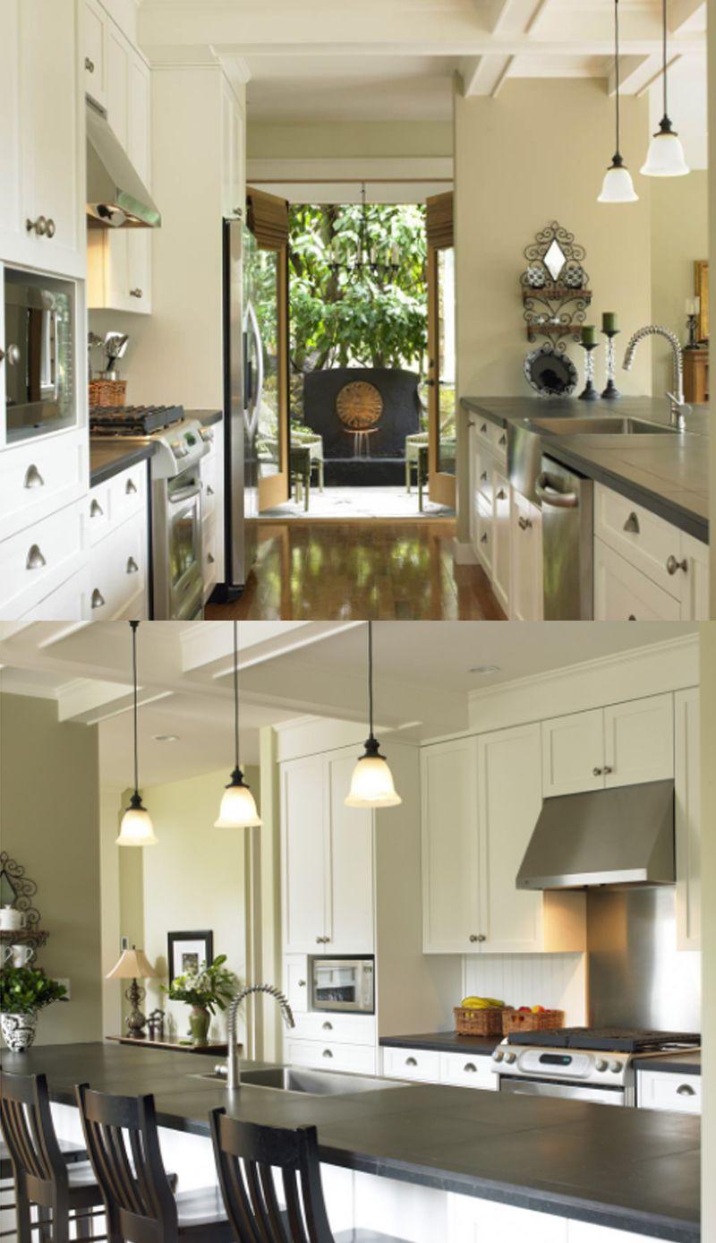 20+ Amazing Galley Kitchen Remodel Ideas 2020 ( Tips & Trends) #opengalleykitchen