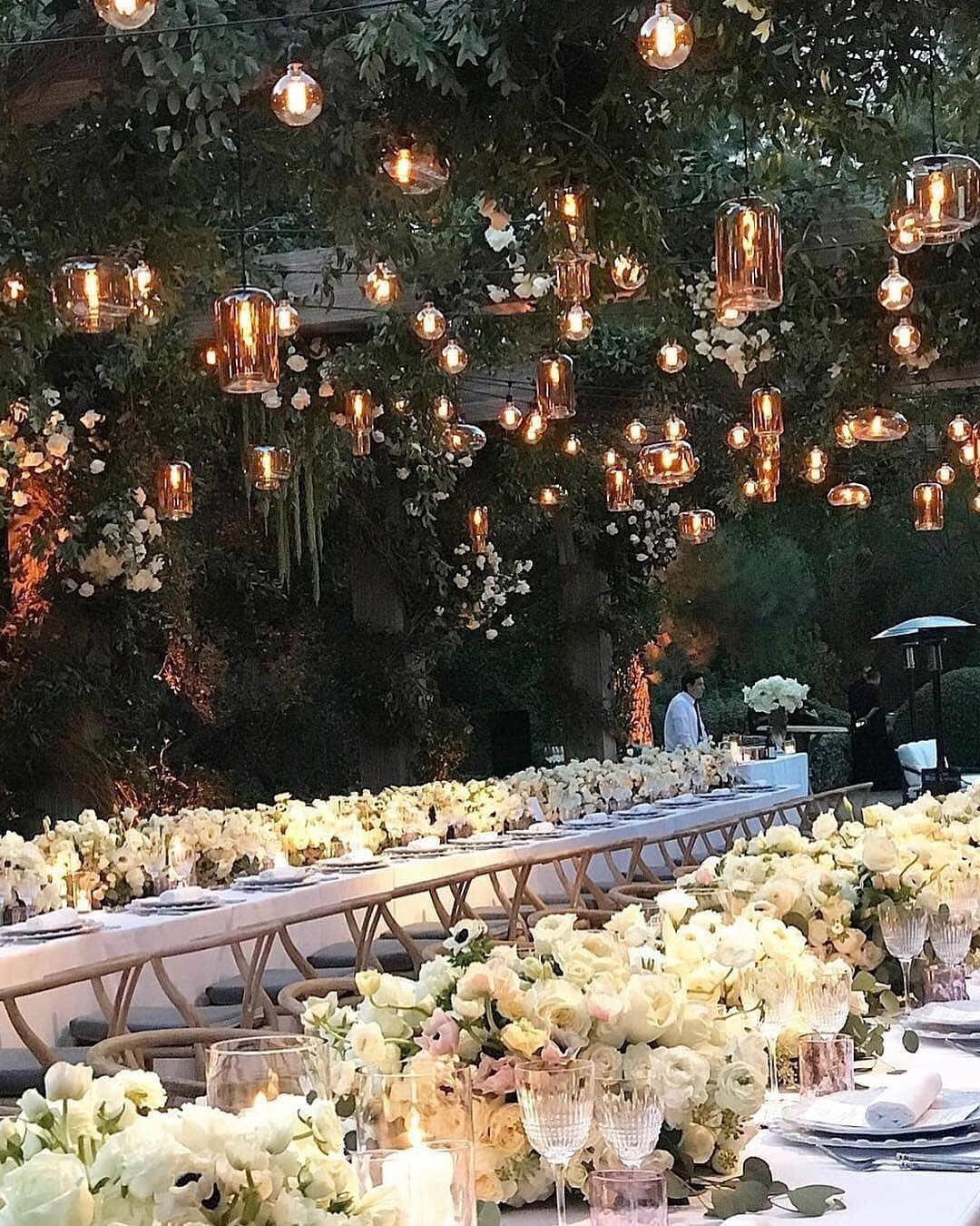 "Wedding Decor Inspiration on Instagram: ""Dinner goals ..."