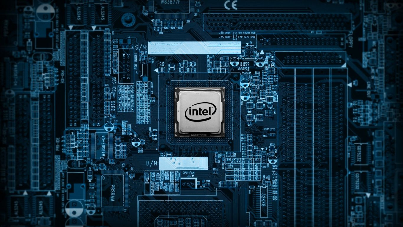 Intel Cpu 1366x768 Wallpaper In 2019 Android Technology