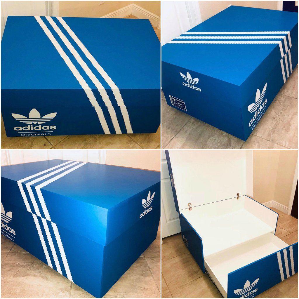 Adidas Originals Shoe Storage Box | Shoe box storage, Giant shoe ...