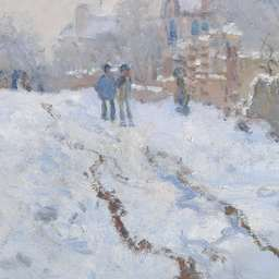 Claude-Oscar Monet | Snow Scene at Argenteuil | NG6607 | The National Gallery, London