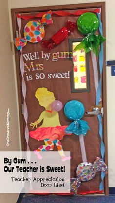 Bright Color Candyland Classroom Door Google Search