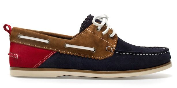 59a1a88f59ef90 Color-blocked Boat Shoes from Zara