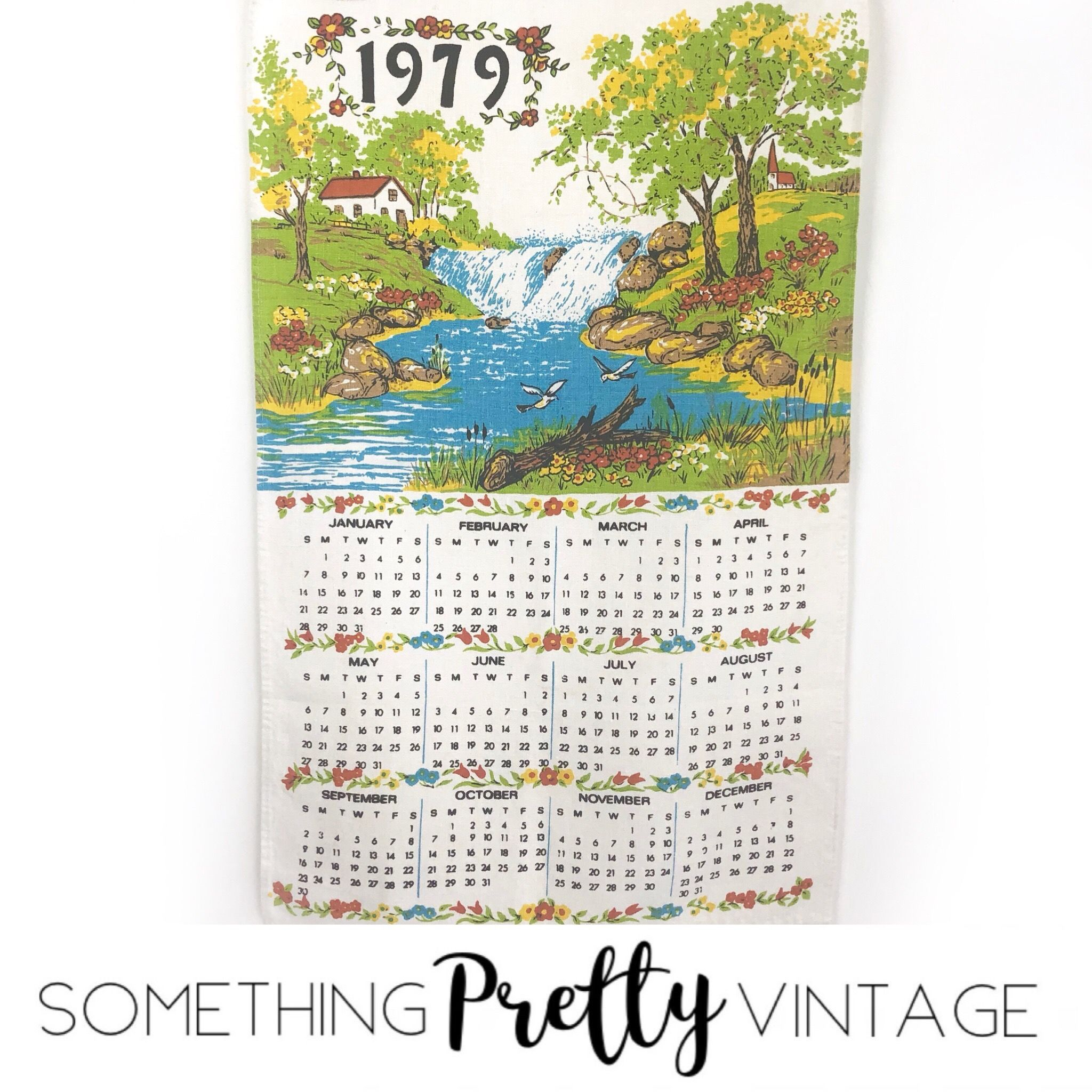Excited To Share This Item From My Etsy Shop 1979 Calendar Tea