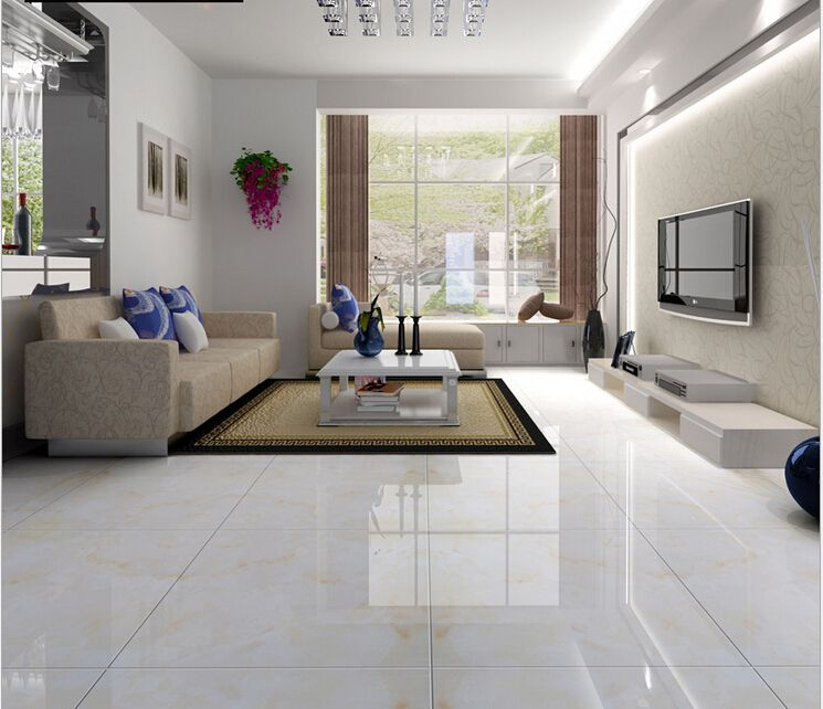 Floor Tile Living Room Full Cast Glazed Tiles