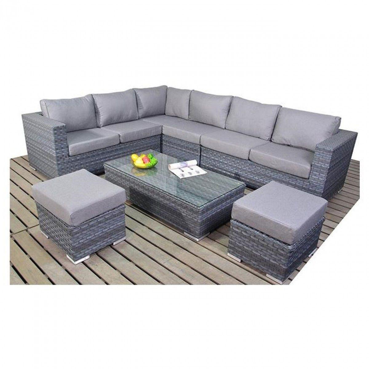 Port Royal Platinum Large Corner Sofa Set Wgf 502 Furniture Corner Sofa Set Rattan Garden Furniture
