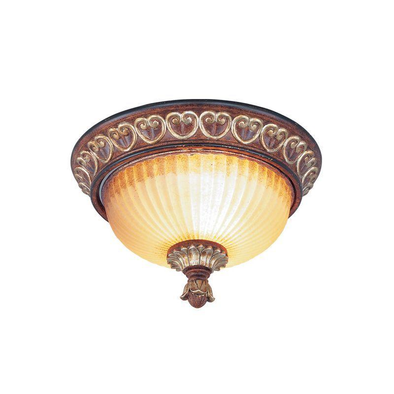 be7f48e0585 Livex Lighting 8562 Villa Verona 2 Light Flush Mount Ceiling Fixture Verona  Bronze Indoor Lighting Ceiling Fixtures Flush Mount
