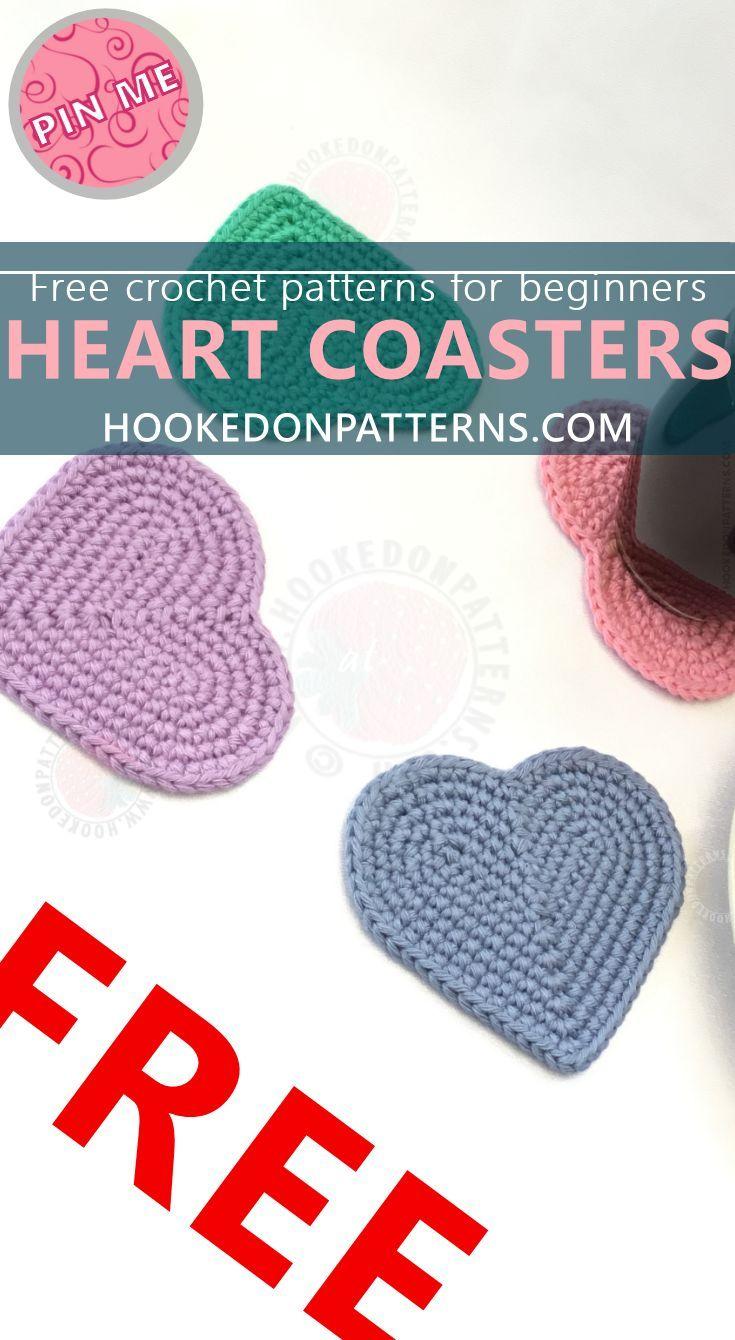 Free Heart Coaster Crochet Pattern   Crochet Ideas and Inspiration ...