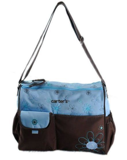 Carters Flower Diaper Bag Big Size Blue Designer Diaper Bag