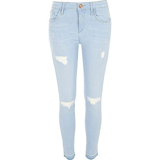 Light wash ripped Amelie super skinny jeans | Clothes | Pinterest ...