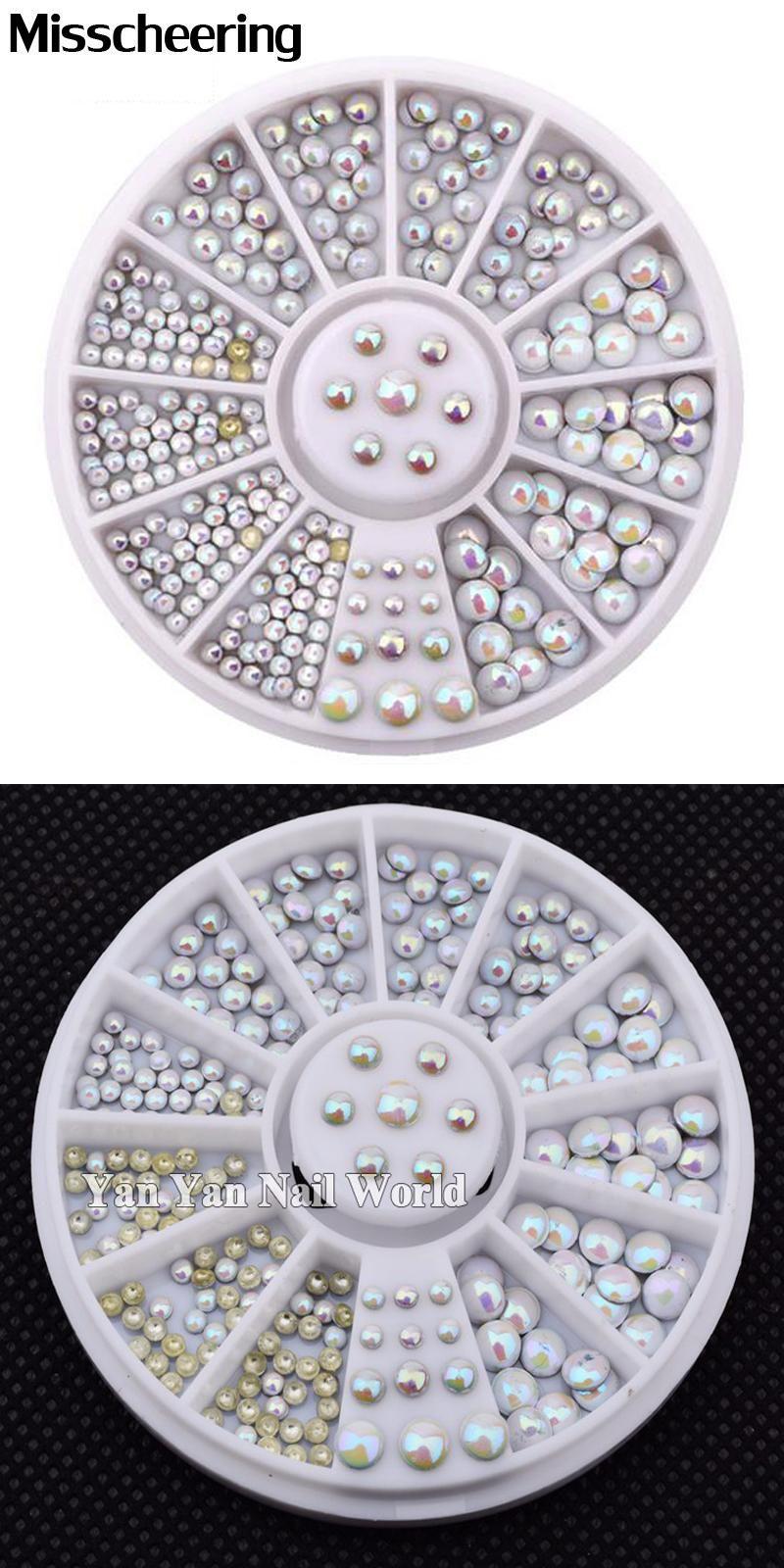 3d Nail Art where to buy 3d nail art supplies : Visit to Buy] Hot Mix Sizes Round Nail Studs Tips Wheel 3d Nail ...