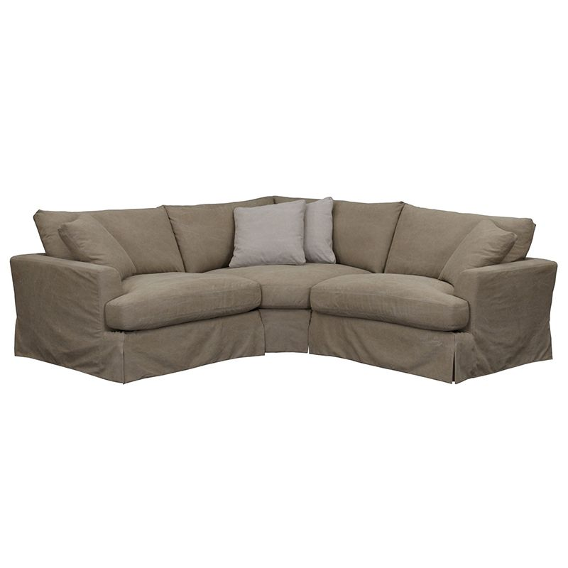 Alpha Taupe 3pc Sectional Sectionals, Furniture And Mattress Gallery