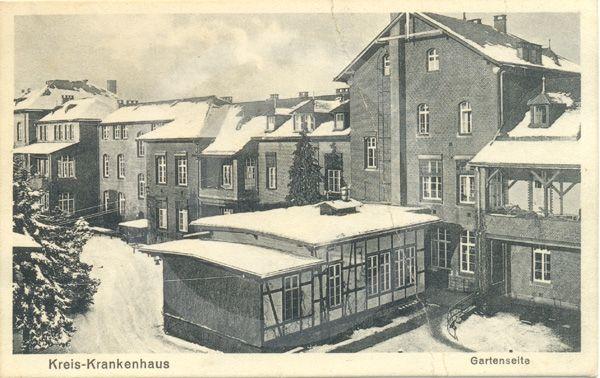 Historische Aufnahme des Kreiskrankenhauses in wernigerode.