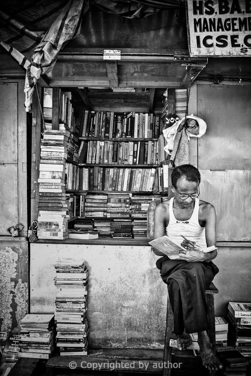 Black and white street photography manjit singh hoonjan the book seller