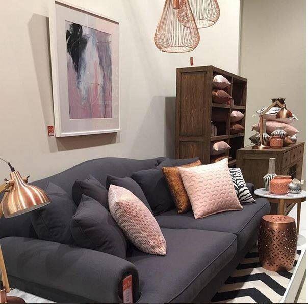 Pastel Pink Navy And Copper I M In Heaven Oz Design Furniture Blush Living Room Living Room Color Schemes