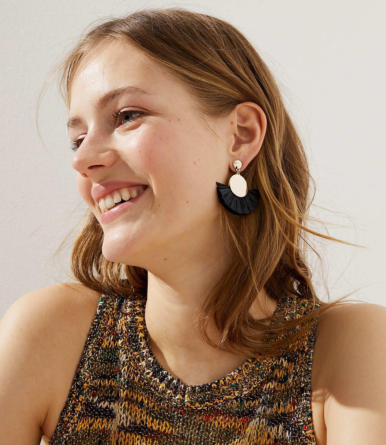 Fringe Drop Earrings LOFT Earrings, Fringe, Drop earrings