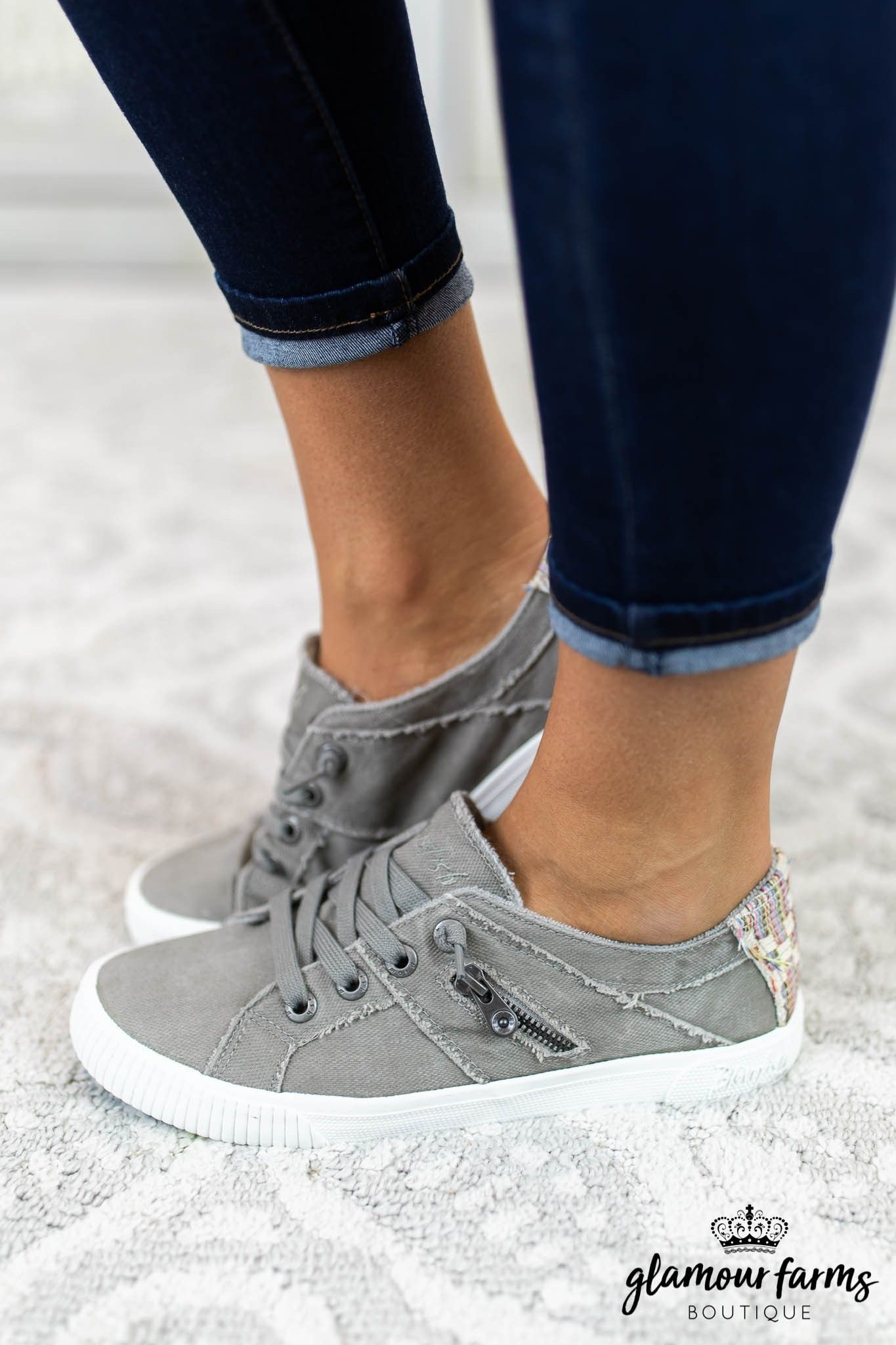 b857d614ddfa Fruit Hipster Sneaker - Gray  glamourfarms  boutique  shopping  trends   spring