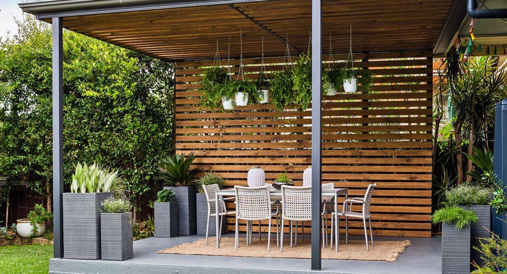 transform your pergola into a gorgeous entertaining space