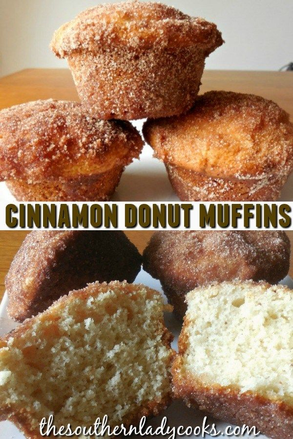 CINNAMON DONUT MUFFINS - The Southern Lady Cooks