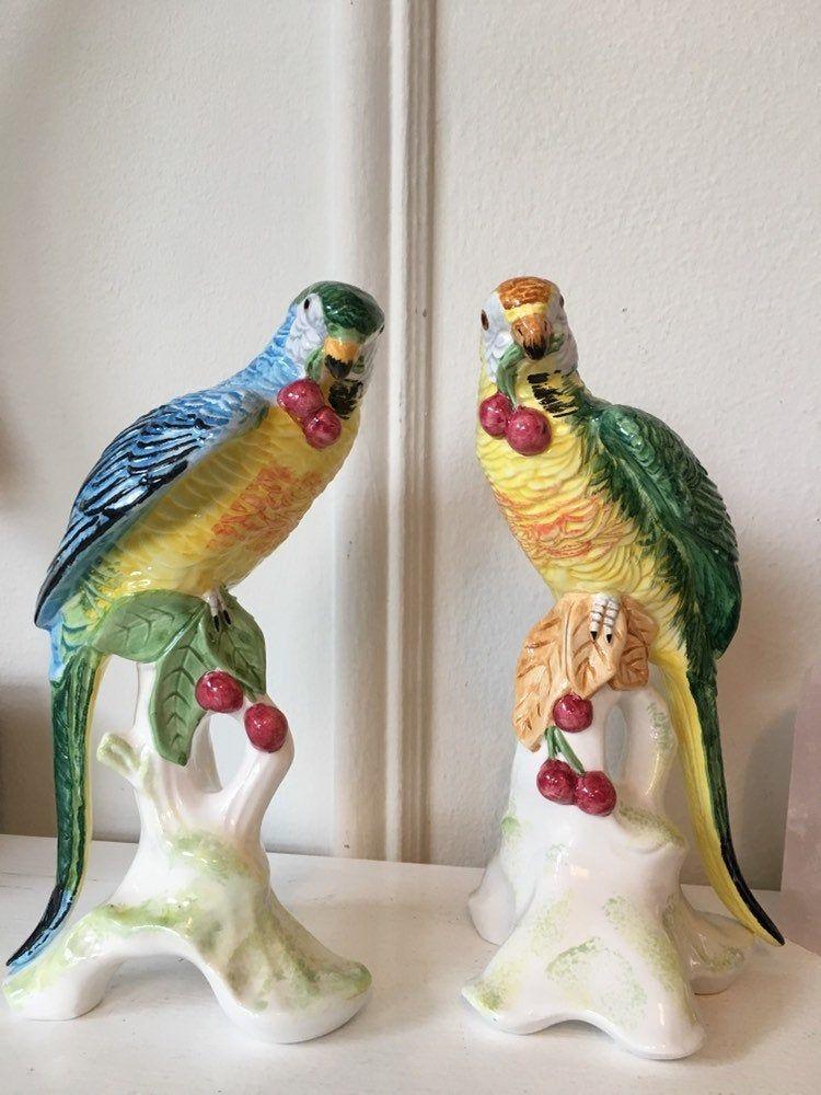 Vintage ceramic glazed bird figure no chips or cracks nice colors