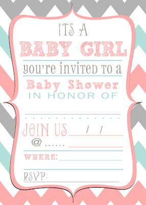 free baby shower invitation download