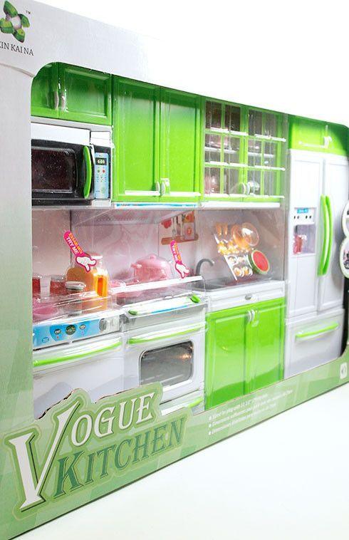 Barbie 4 Piece Vogue Modern Kitchen Set Barbie Poppy Dioramas