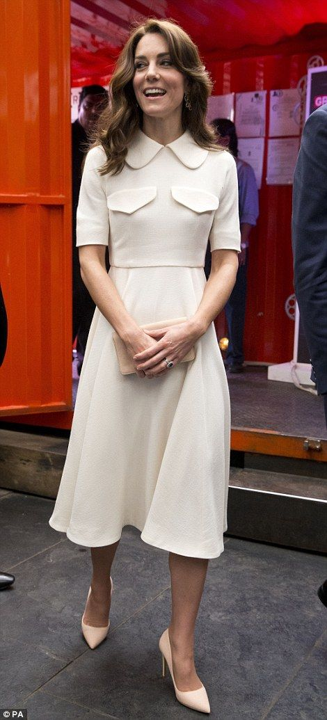 The Duchess of Cambridge arrives for a UK Government Great campaign event at a bar, restau...
