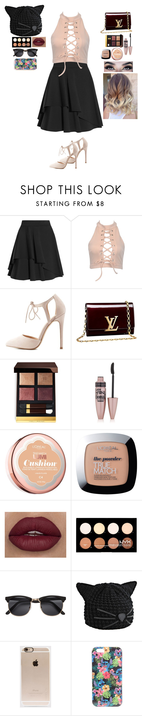 """""""Louis Vuitton"""" by baillieloucks ❤ liked on Polyvore featuring Alexander McQueen, Charlotte Russe, Louis Vuitton, Tom Ford, Maybelline, L'Oréal Paris, NYX, Karl Lagerfeld, Incase and Disney"""