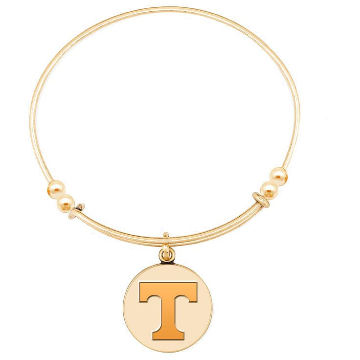 """Tennessee Volunteers Women's 6.5"""" Gold-Plated Expandable Bracelet - $35.99"""