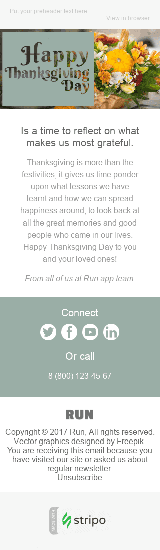 Thanksgiving Day Email Template For Software Technology Industry In 2020 Happy Thanksgiving Day Thanksgiving Day Email Templates