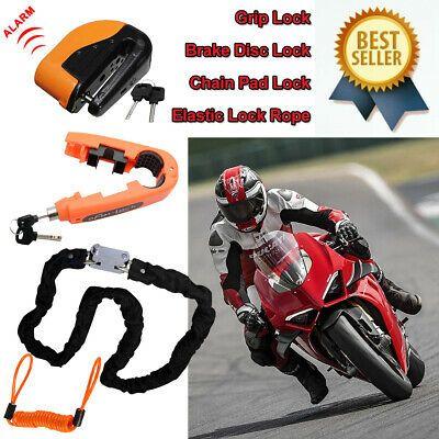 Motorcycle Motorbike Chain Lock Scooter Alarm Brake Disc Lock Security Bike BT3