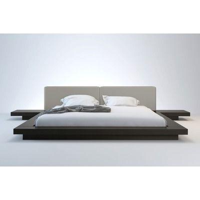 Zetta Upholstered Platform Bed Modern Platform Bed Japanese
