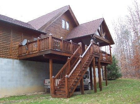 Log Home Deck Ideas   Google Search
